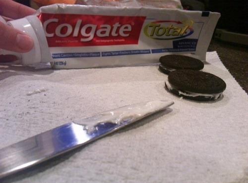 Oreo au dentifirice